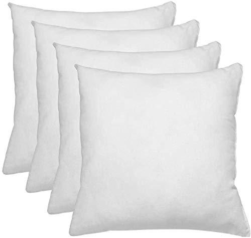 Relleno de cojin 35x35 Pack 4 Unidades - Relleno de Fibra Hueca conjugada siliconada Ideal para Rellenar Cojines Decorativos ,Cojines para Cama, Cojines de Sofa, almohadones