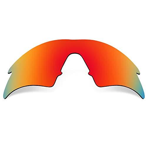 SEEK Ersatzgläser Kompatibel mit OAKLEY M Frame Sweep Polarisiert Rot Spiegel