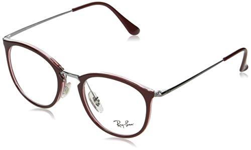 Ray-Ban RX7140 Gafas de lectura, Red, 49 Unisex Adulto
