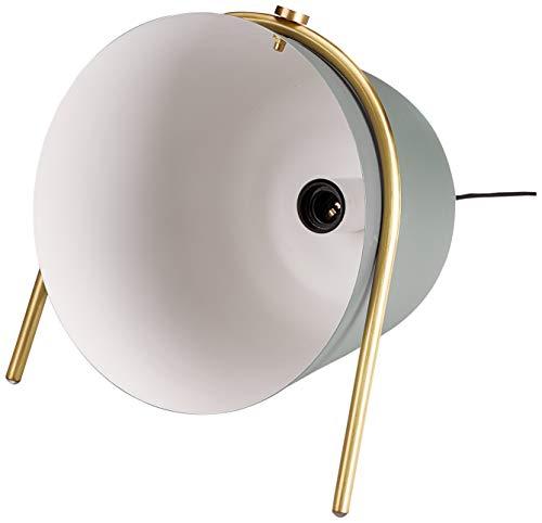 Homemania - Lámpara de pie Belle, Suelo, Azul, Dorado, Negro de Hierro, latón, 29 x 31 x 35 cm, 1 x E14, 25 W