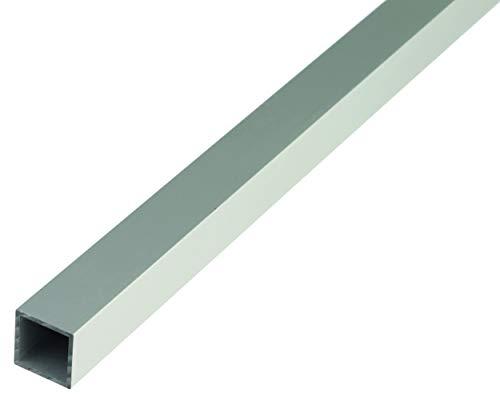 GAH-ALBERTS 471668 Tubo cuadrado, silberfarbig eloxiert, 1000 x 40 x 40 mm