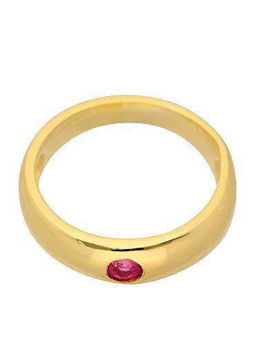 Oro battesimo ciondolo a forma di anello con ruibn in 585 giallo (3 x 11,2 Ø mm)