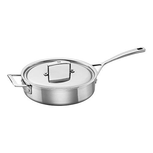 ZWILLING J.A. Henckels Aurora 66087-240 Saute Pan, 3 quart, Silver, Stainless Steel