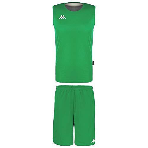 Kappa Cairosi Conjunto Baloncesto, Hombre, Verde, XL