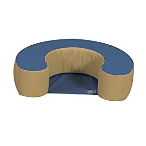 Children's Factory Woodland Sit Me Up, Foam Newborn Lounger, Indoor Soft Play Floor Pillow, Infant Support Seat, for Daycare/Preschool/Nursery, Blue/Tan