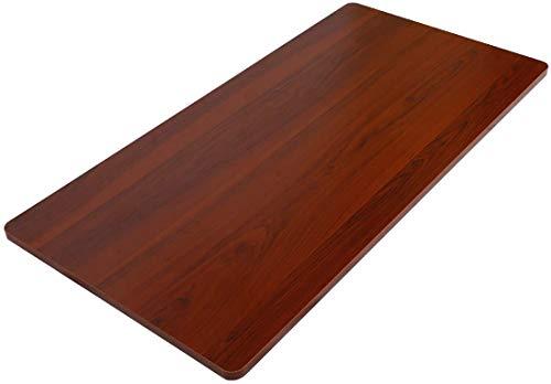 FLEXISPOT オフィスデスク用天板 DIY用天板 学習机 勉強机 スタンディングデスク (Mahogany, 100*60cm)