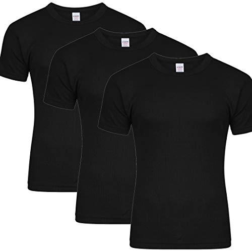 YCC® Herren-Thermo-Unterhemd, langärmelig, für Camping, Ski, Outdoor, Größe S-2XL Gr. XXL, 3 x Schwarz