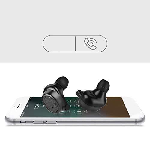 Huairdum Intelligente Touch-Steuerung Komfortabel Tragen Sie Schwarze Freisprechanrufe, kabellose Ladekopfhörer, Bluetooth-Kopfhörer und Telefonanrufe. Hören Sie Musik für