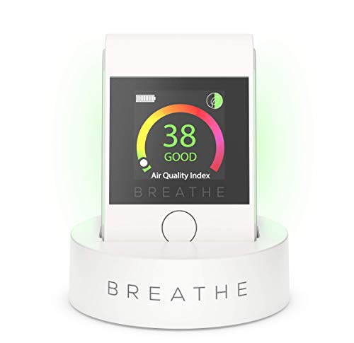 BREATHE|Smart 2 Personal Air Quality Monitor, Instantly Measures Air Quality Levels. Monitors Dust, Smoke, PM 2.5 Air Pollution - Reduce Your Exposure to Toxic Air.