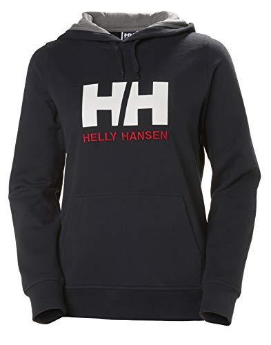 Helly Hansen W HH Logo Hoodie, Felpa con Cappuccio, M, Navy