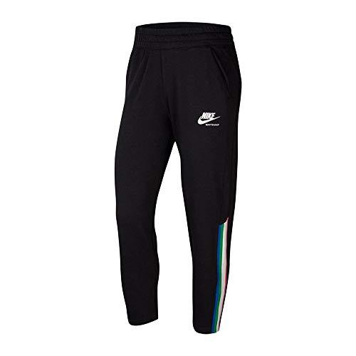 Nike Damen Sportswear Heritage FLC Sporthose, Black/Grey Fog/White, M