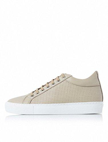 [イルモ] Perforated Beige Leather Unisex matching sneakers ベージュパンチングレザーマッチング男女共用スニーカー MA64K10014 (並行輸入品) (EU40)
