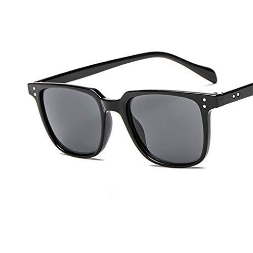 CHENG/ CHENG Sonnebrille Rivet Vintage Sonnenbrille Männer Platz Schwarz Kunststoff Sonnenbrille Für MännerShades Männlich