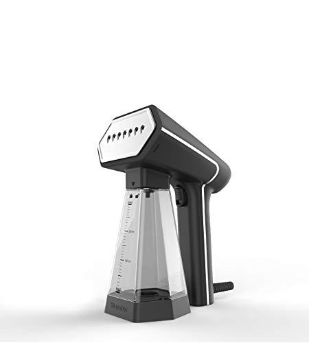 SteamOne S-Nomad Plus 300 Soft Touch-Plancha de Vapor de Viaje, Color Negro, Cromado, Travel-Size