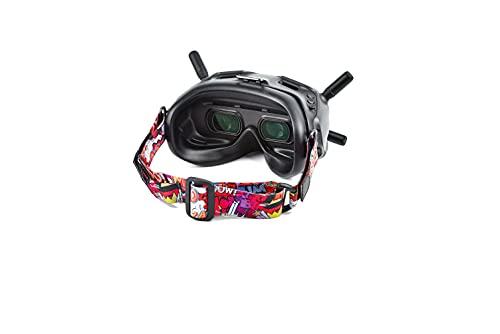 Fututech - Cinghie per occhiali colorate per occhiali DJI FPV e altre marche di occhiali VR Accessories durevoli e di alta compatibilità (Red)