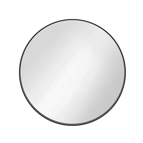 Qiyang 30inch Wall Mirror with Black Frame Cover Bathroom Round Mirror Made of Metal amp Glass Makeup Mirror for Bathroom Living Room Entryway