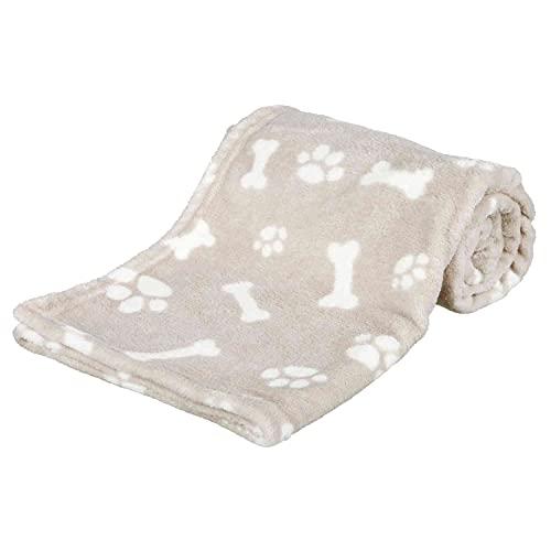 Trixie Manta para Perros Mascotas - Manta Sofa Suave Manta para Mascotas Perros Gatos Cálida Protección Manta Kenny 75×100cm Beige