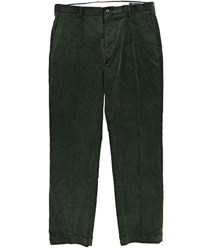 Ralph Lauren Mens Fancy Stretch Casual Corduroy Pants, Green, 33W x 30L
