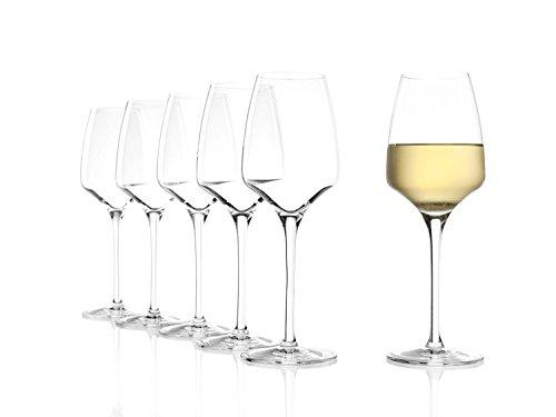 Verres à Vin Blanc Expérience de Stölzle Lausitz 350 ml, set de 6, lave-vaisselle garanti