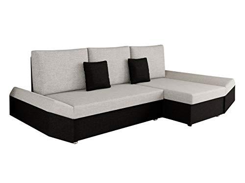 Mirjan24 Ecksofa Moric Eckcouch Sofa mit Schlaffunktion und Bettkasten! Ottomane Universal, inkl. Kissen Couch, Schlafsofa Bettsofa vom Hersteller (Porto 36 + Porto 31)