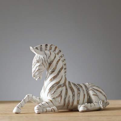 RNGNB Furnishing Articles Nordic Home decoraties hars dier ornamenten zebra moderne woonkamer TV kast wijnkast veranda decoratie-ideeën