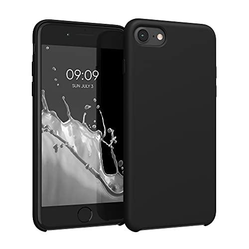 kwmobile Carcasa Compatible con Apple iPhone 7/8 / SE (2020) - Funda de Silicona para móvil - Cover Trasero en Negro