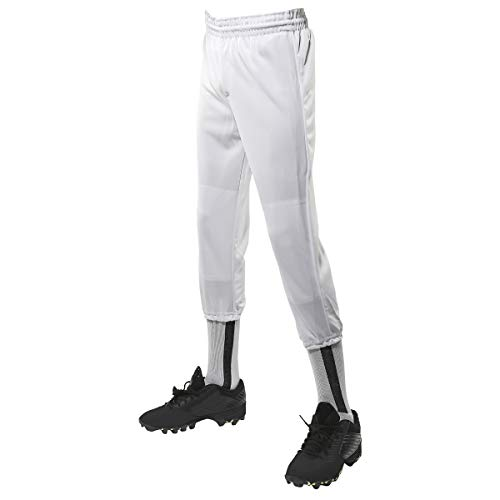 CHAMPRO Performance Polyester Pull-Up Pant, Adult Medium, White