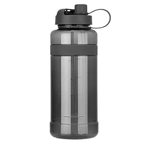 ZYCW Borraccia Sportiva, BPA Free Plastic, 700ml/1L/2L/3L, Facile da Aprire-Riutilizzabile Bottiglia da Palestra Ideale da Corsa, Ciclismo, Scuola, Viaggi e Altro (3000ml,Gray)