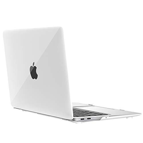 MoKo MacBook Air 13 Pulgadas Funda 2018(Model de A1932), Delgada Cubierta Protectora Cáscara Dura de Scrup Compatible para New MacBook Air 13 2018 con Pantalla de Retina - Blanco