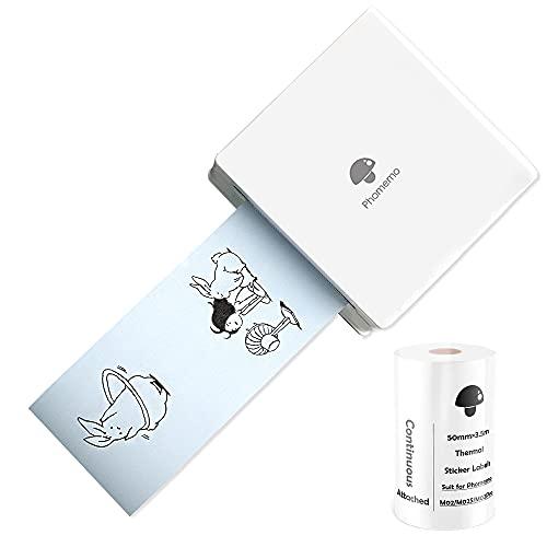 Phomemo M02 Bluetooth Printer Thermal Pocket Printer Instant Photo Printer...