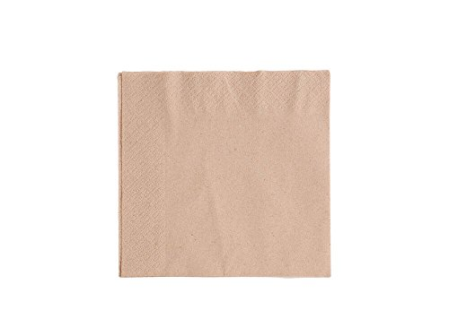 Vegware 202000 Unbleached napkin, 2-Ply, 33 cm (Pack of 100)