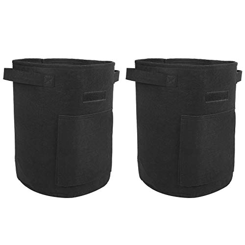 Grow Bag Pflanze Flower Planting Bag Plant Grow Container Garten für Pflanze(Black)