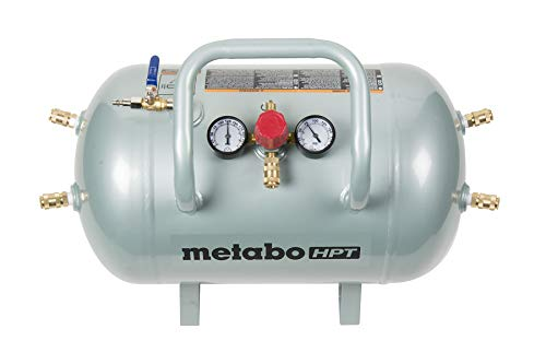 Metabo HPT Air Tank, Five Quick Connect Couplers, 10-Gallon Capacity, ASME Certified (UA3810AB)
