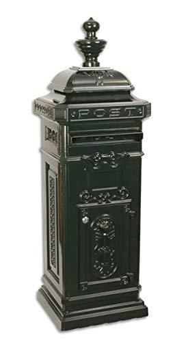 Casa Padrino Jugendstil Stand Briefkasten Dunkelgrün - Englischer Antik Stil Briefkasten Postkasten - Nostalgie