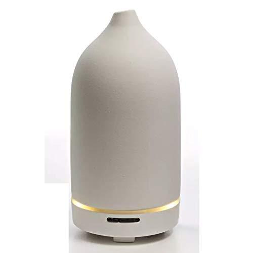 TSMALL Difusor de cerámica para Fregar, humidificador ultrasónico de aromaterapia de Aceite Esencial de Nano atomización Hecho a Mano, para Oficina de bebé, SPA en casa, Yoga,Blanco