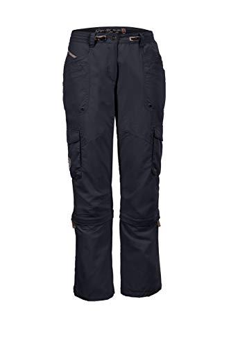 G.I.G.A DX Floria Casual Hose mit abzippbaren Beinen Femme, Bleu Marine, FR : XL (Taille Fabricant : 44)