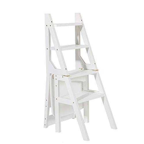 /® 90x43x32cm con 4 compartimientos de Almacenamiento Estanter/ía Escalera en.casa Blanca