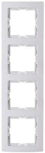 Kopp Rahmen Paris Abdeckrahmen 4-Fach arktis-weiß,308702063