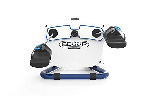 SCOOP Lateral Trainer Mini - Compact, Lightweight, Portable Pedaler   Health & Fitness Pedal Exercise for Legs, Knees, Hips & Lower
