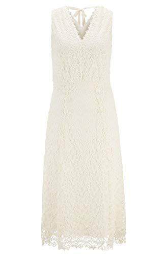 BOSS Womens Demalda Casual Dress, Open White (118), M