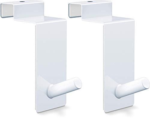 RELIBO Flipchart Türhaken - platzsparende & mobile Alternative zum Flipchart Ständer   intelligente Lösung zum Aufhängen von Flipchart-Papier   Weißes Paar für Türrückseite (x2)