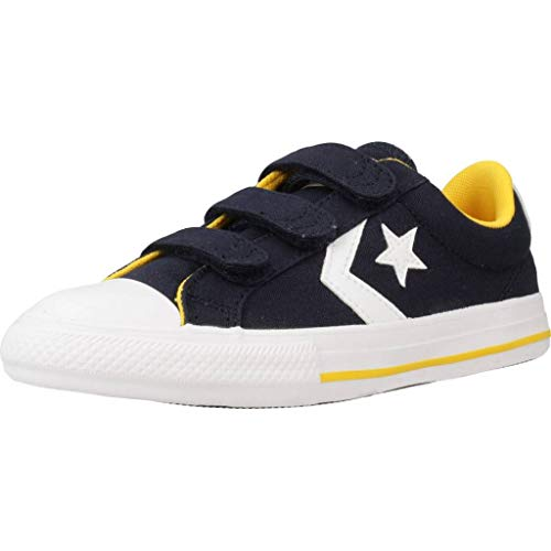 Converse Star Player 3V Obsidiana/Amarillo/Blanco Lona EU 32