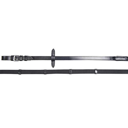 HKM Lea - Riendas de cincha, color negro