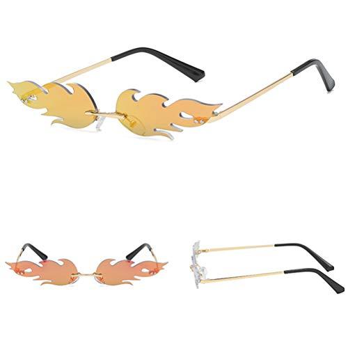 BYJIN Gafas Sol Las Mujeres- Gafas Sol Creativas Forma