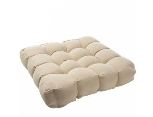 Bedding Direct UK Factory Seconds Faux Suede Booster Cushion in Cream