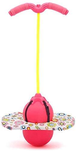 Pelota de salto de equilibrio de juguete, bola de salto, bola de salto, truco de salto, tabla de rebote de ejercicio, equilibrio, juegos de entretenimiento, peso ligero, fácil de usar (color: rosa)