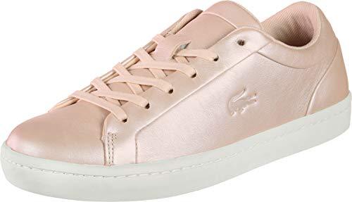 Lacoste Straightset Sneaker Damen rosa, 6 UK - 39.5 EU - 8 US