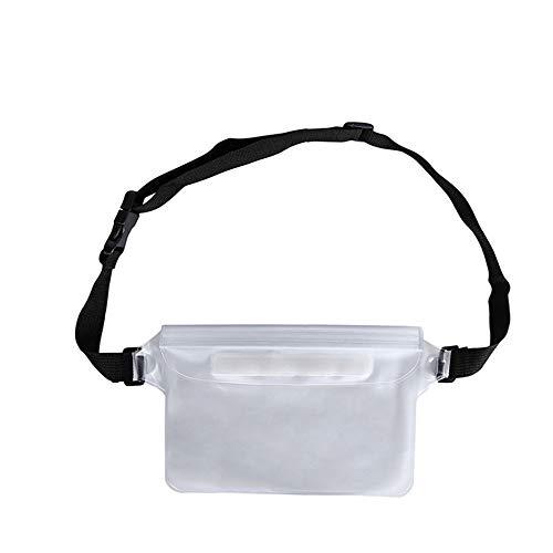 Andoer Bolsa à prova d'água para natação ao ar livre para drifting Bolsa seca capa de PVC para celular e armazenamento Bolsa protetora branca