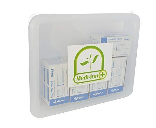 Medi-Inn+ 500 Stück Alkoholtupfer 30 x 65 mm Tupfer Alkoholpads inklusive Aufbewahrungsbox