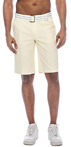 TR Fashion Herren Bahamas Walking-Shorts mit Gürtel - Gelb - 46